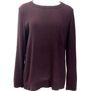 Aritzia - Wilfred Free Burgundy Boyfriend Top